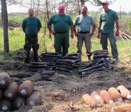 Műszeresen felkutatott lőszerek Győr- Bombavadász