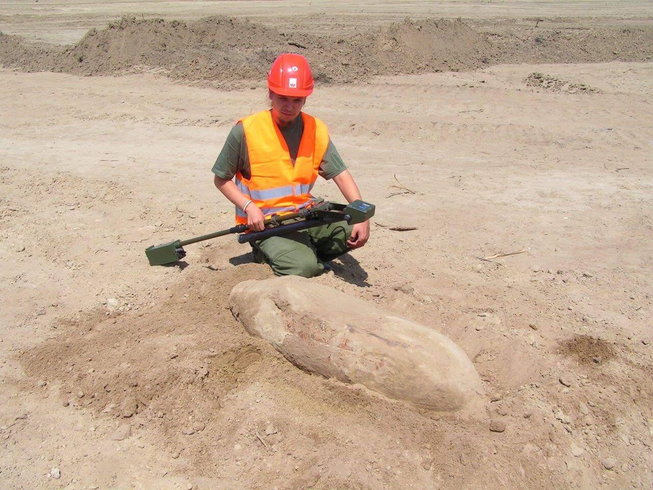 felkutatott szovjet FAB 250 romboló bomba