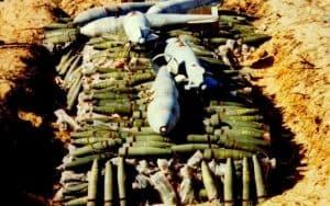 felkutatott lőszerek