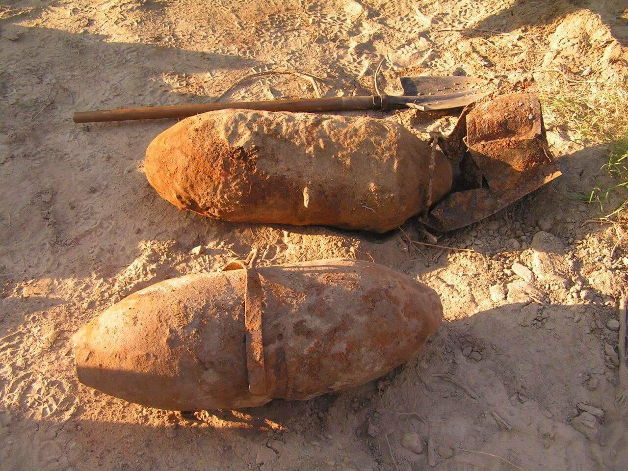 műszeresen felkutatott FAB 100-as bomba